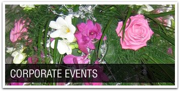 Corporate events by Becky's Flowers florist in West Lothian